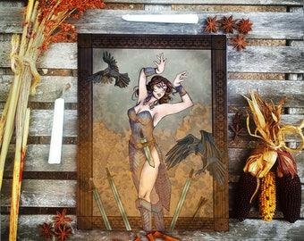 Goddess Morrigane Art Print