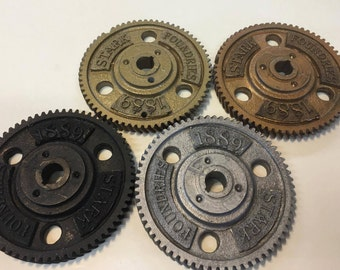 Bulk discount set of 6 Stark Foundaries 1889 Steampunk Gears