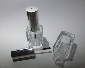 Empty Nail Polish Bottles / Silver Cap **12mL**