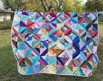 Queen Sized Anthropologie Style Vintage Quilt