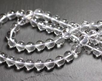 4pc - stone beads - Crystal Quartz balls 10mm 4558550025463