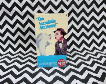 The Incredible Mr. Limpet Vintage VHS Tape. Classic Kids Cartoon Movie. Don Knotts Hilarious Kids Movie. 1960s Kids Movie Vhs.