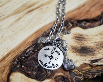 Not All Who Wander Are Lost, JRR Tolkien, Not all Who Wander Charm Pipe Charm, Aragorn, Lord of the Ring, Graduation Gift, Middle Earth