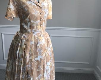 Vintage 50's/60's Dress L