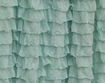 Mint Crib Skirt Bedding for Cribs - Mint Crib Dust Ruffle - Ruffle Crib Skirt Crib Bedding Girls - Long Crib Skirt for Girls - Mint Nursery