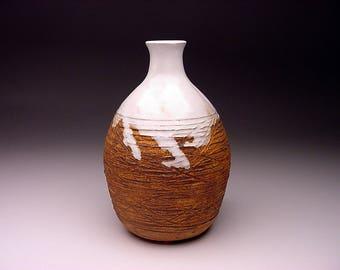 Listed MCM Professor Leon F. Moburg (1927-2013) slashed glazed vase vessel SIGNED protege of Bogatay Ball