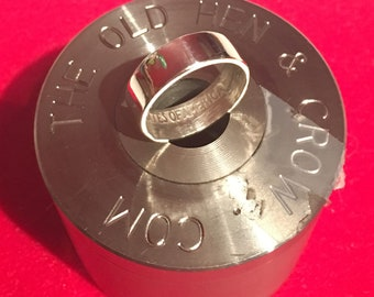 Silver Quarter Wedding Band Size 3 - 7