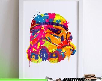 Star Wars Storm Trooper Illustrated Art Print