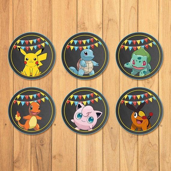 Clean image in pokemon cupcake toppers printable