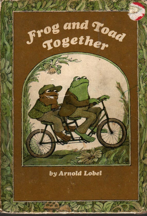 Frog and Toad Together + Arnold Lobel + 1972 + Vintage Kids Book