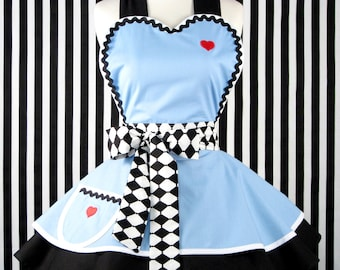 Cute Enchanted Alice Apron for Tea Time