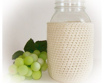 Oyster Ball Mason Jar Cozy Quart size, canning cover, jar sleeve, Eco friendly Hostess Gift