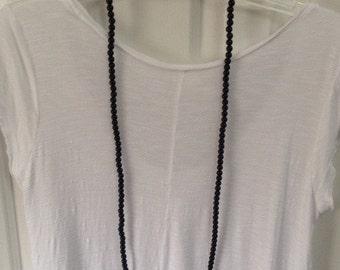 BLACK DOUBLEWRAP Handmade One of a Kind Black Double Wrap Beaded Necklace