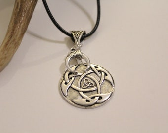"Necklace ""TRIQUETRA"" ↠ Celtic symbol for eternity, infinity"