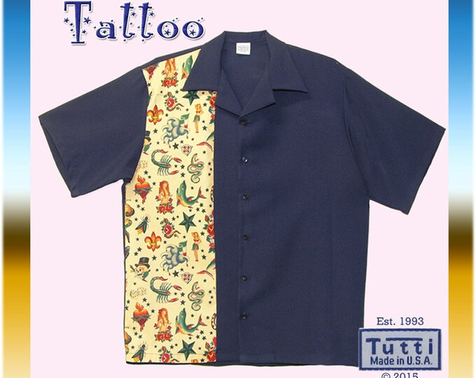 Bowling Shirts - Free Shipping - Tattoo Art - Rockabilly Rebel Party Shirts