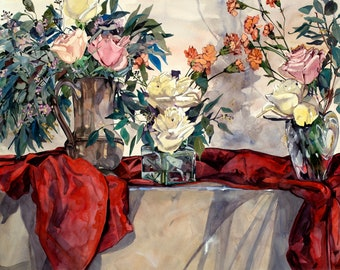 Still Life with Red and Roses