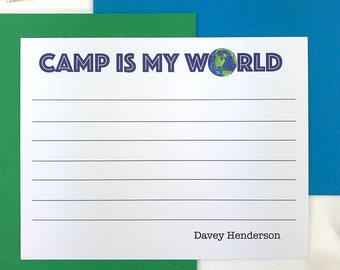 Kids Camp Stationary, Summer Camp, Personalized Stationery Set, Boys Stationary Set