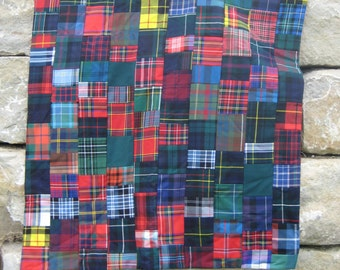Warm Handmade Quilt of Authentic Wool Scottish Tartan (McFarlane)