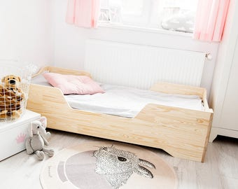 Single bed for kids - CUBE 2 - Pine wood