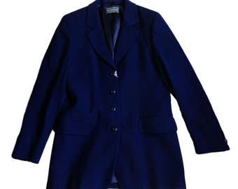 Glamer Italy Blue Wool Blazer Jacket - Made in Italy - With Tags - Size 44 / US 12