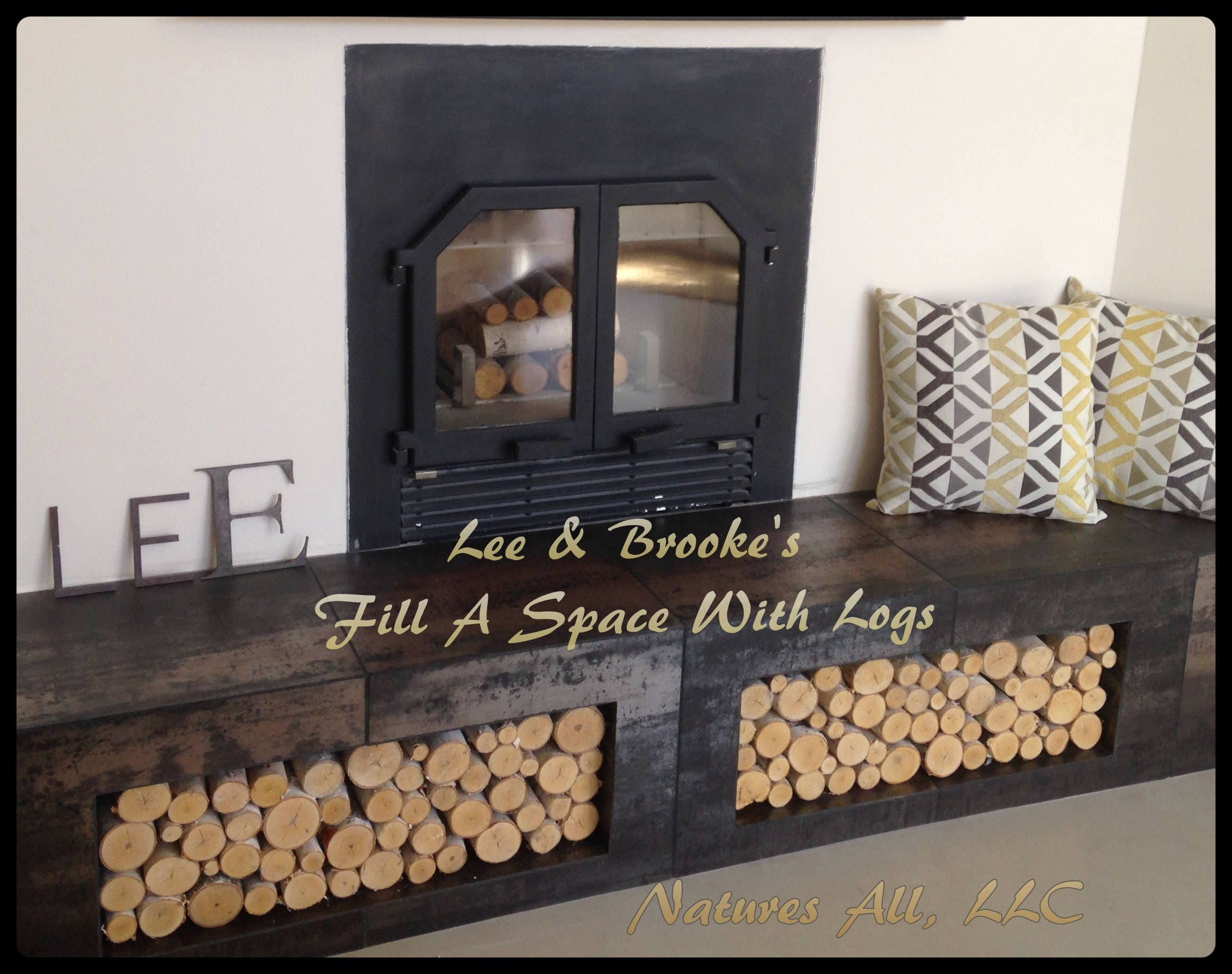 diy stacked jenna on decorative a how screen logs fireplace burger to make faux check log tutorial out