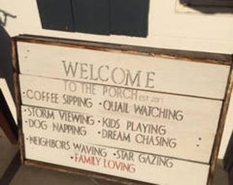 Welcome to the Porch Sign Customizable
