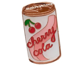 Cherry Cola lapel pin 1""