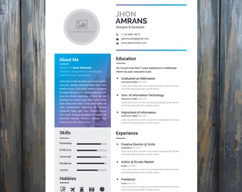Resume Template Word/Cover Letter