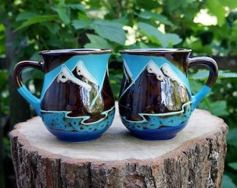 American bald eagle mug ceramic Eagle scout gift