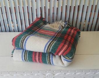 Vintage Earl-Wood Wool Lap Robe from Great Britain