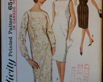 Simplicity 5490 Misses Vintage/Retired 1960's Dress Sewing Pattern Size 12