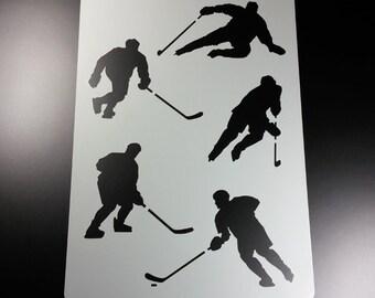 Stencil Hockey Sport 5 field player hockey-BA77