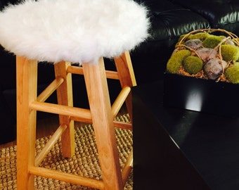 Faux Fur Chair Slipcover lined with felt - Animal Friendly - Choose Faux Fur COLOR