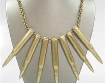 Golden bullet chest Neckalace