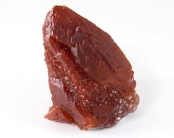 Red Ferrous Quartz Point, M-1168