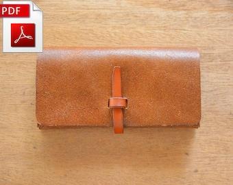 Leather pattern Wallet pattern Purse pattern Bifold Pattern Leather template Leather PDF Leathercraft pattern