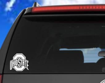 2 Ohio State vinyl decals, Car, laptop decals, Gifts under 5
