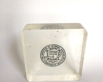 IRS Lucite Paperweight