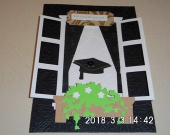 College Graduation Window Card