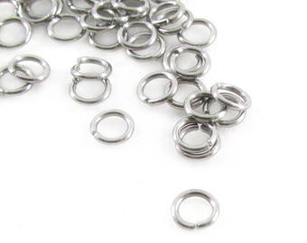 50pcs, 4mm Stainless Steel Jumprings, 22ga, Stainless Steel Jump Rings, Hypoallergenic Stainless Jump Rings Open Round Jump Rings Connectors