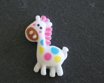 A giraffe cabochon for scrapbooking, embellishment approx.