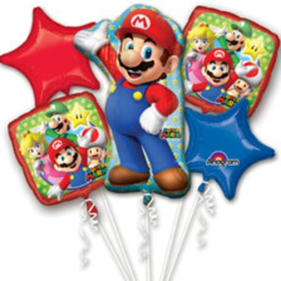 Super Mario Mylar Balloons Mario Birthday Party Decor Birthday