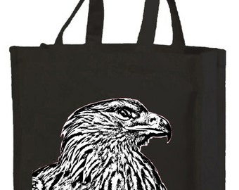 Eagle Cotton Shopping Bag with gusset and long handles, 3 colour options