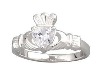Sterling Silver Claddagh Heart Ring