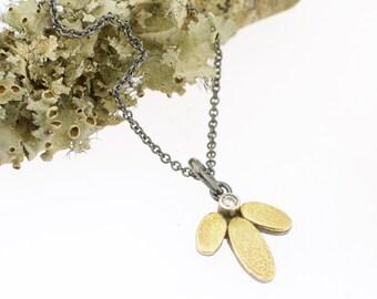 Lichen Lotus Gemstone Pendant