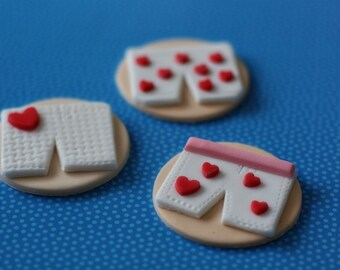 Boxer Short Fondant Toppers for Decorating Cupcakes, Cookies or Mini-Cakes at Bridal Showers and Bachelorette Parties