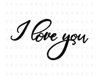 I love you svg, Valentines day svg, Love svg cut file vinyl decal for silhouette cameo cricut iron on transfer on mug shirt fabric