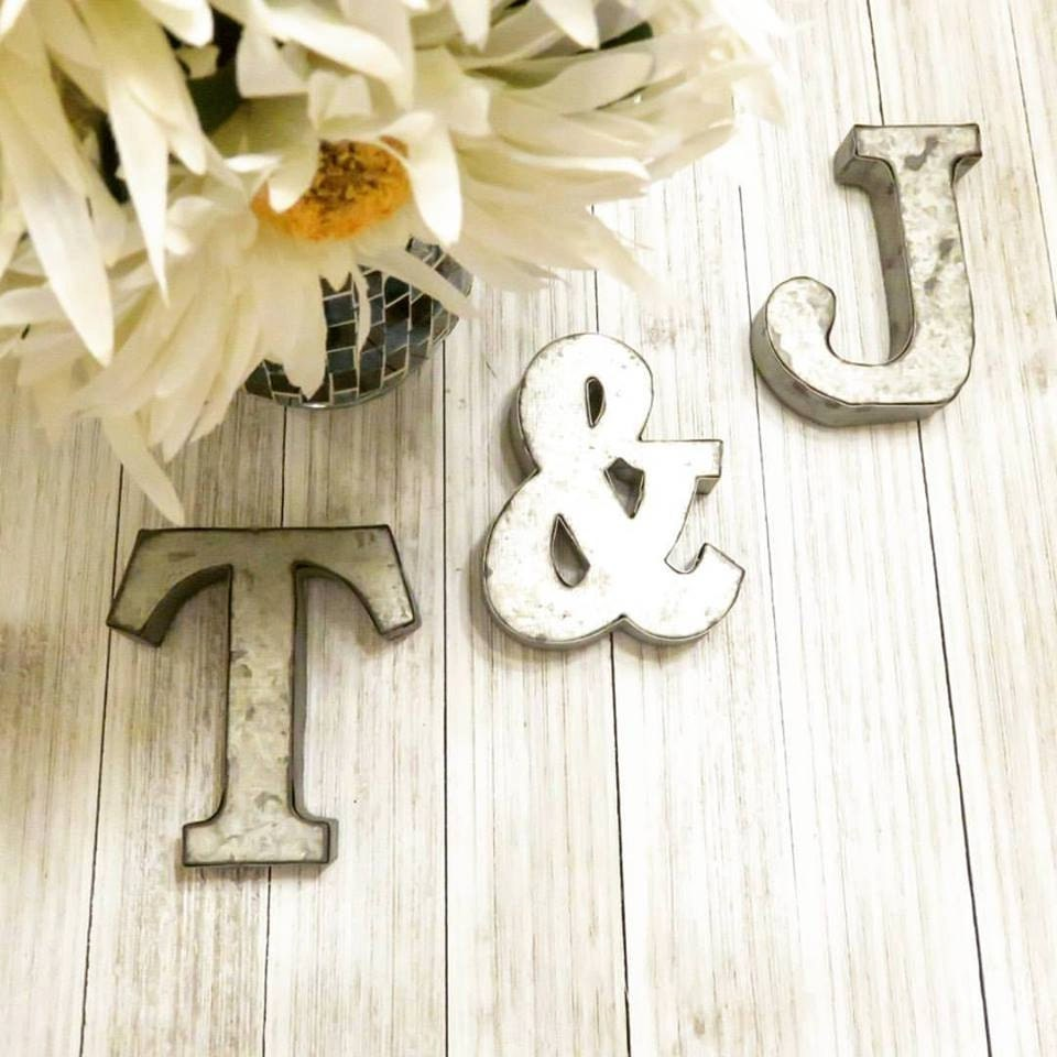 Tin Letters And Numbers Alphabet Letters Farmhouse Decor Metal Letters 4