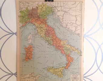 Antique Map of Italy Atlas Published by Geographia Map Co. Inc. 1930 Alexander Gross FRGS (1879-1958)