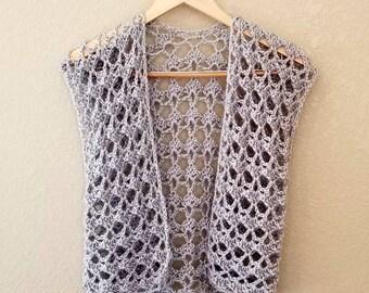 Cardigan Crochet PATTERN - Crochet Top - Crochet Top Pattern - Summer Crochet Pattern